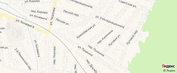 Территория ГО 3 на карте Сельца с номерами домов