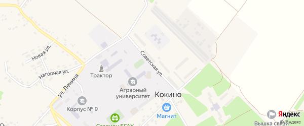 Советская улица на карте села Кокино с номерами домов