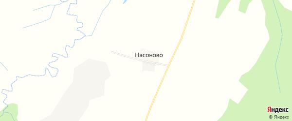 Карта деревни Насоново в Смоленской области с улицами и номерами домов