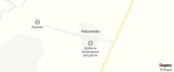 Улица Насоново на карте деревни Насоново Смоленской области с номерами домов