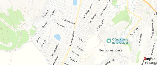 Территория СПК СПК Строитель-К на карте Симферопольского района Крыма с номерами домов