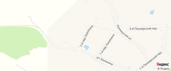 Переулок 2-й Калинина на карте поселка Стари Брянской области с номерами домов