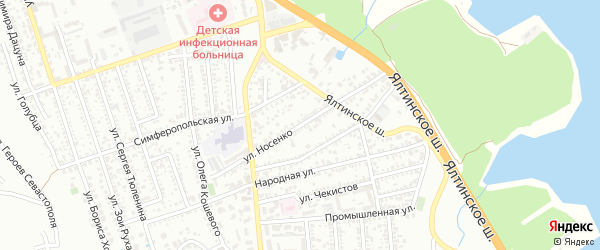 Улица Носенко на карте Симферополя с номерами домов