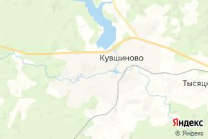 Карта г. Кувшиново Тверская область