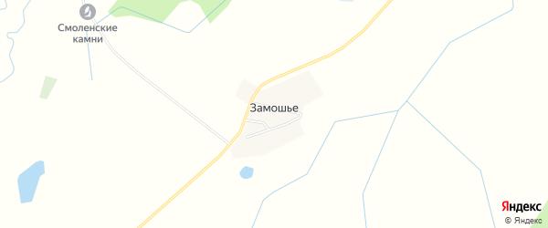 Карта деревни Замошьего в Смоленской области с улицами и номерами домов