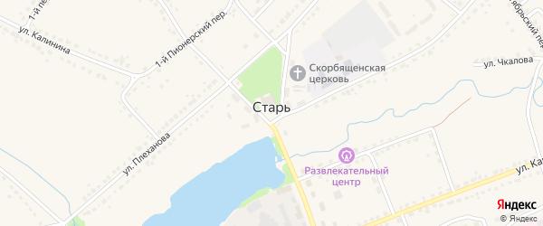 Площадь 30 лет Победы на карте поселка Стари Брянской области с номерами домов