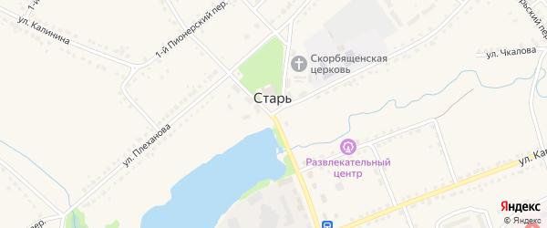 Лесной переулок на карте поселка Стари Брянской области с номерами домов