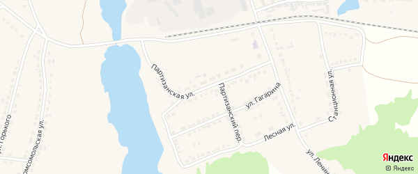 Партизанская улица на карте поселка Стари Брянской области с номерами домов