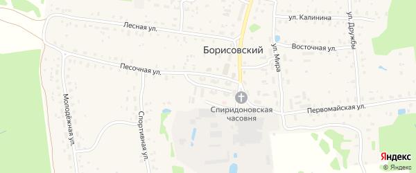 2-я Заводская улица на карте Борисовского поселка Тверской области с номерами домов