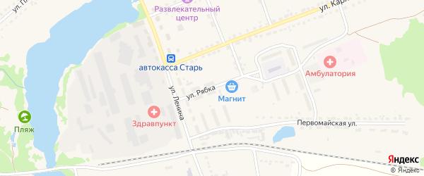 Улица Рябка на карте поселка Стари Брянской области с номерами домов