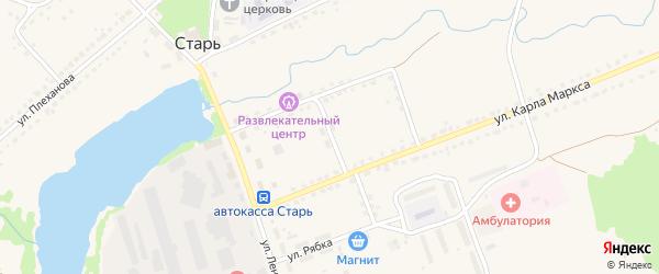 Улица Чапаева на карте поселка Стари Брянской области с номерами домов
