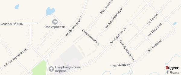 Спортивная улица на карте поселка Стари с номерами домов