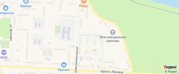 Улица Конституции на карте Подпорожья с номерами домов
