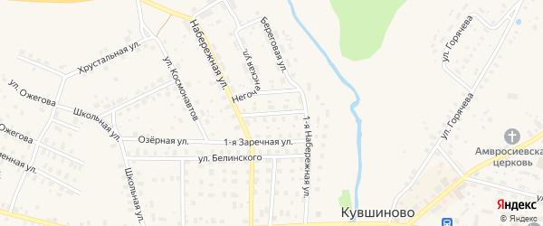 2-я Заречная улица на карте Кувшиново с номерами домов