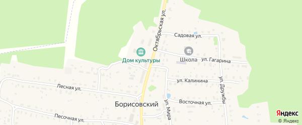 Октябрьская улица на карте Борисовского поселка Тверской области с номерами домов
