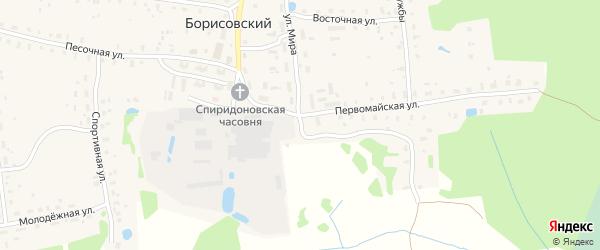 Новая улица на карте Борисовского поселка Тверской области с номерами домов