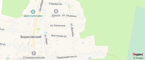 Улица Дружбы на карте Борисовского поселка Тверской области с номерами домов