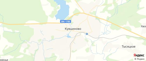 Карта Кувшиново с районами, улицами и номерами домов