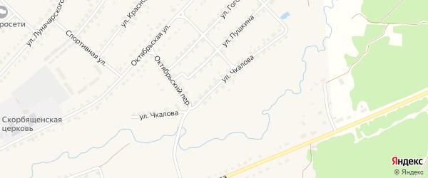 Улица Чкалова на карте поселка Стари Брянской области с номерами домов