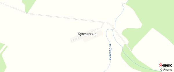 Карта деревни Кулешовки в Смоленской области с улицами и номерами домов