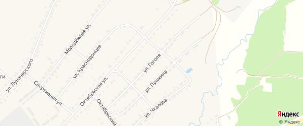 Улица Гоголя на карте поселка Стари Брянской области с номерами домов