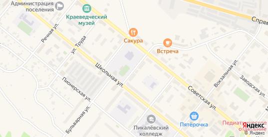 Театральный 2-й переулок в Пикалево с номерами домов на карте. Спутник и схема онлайн