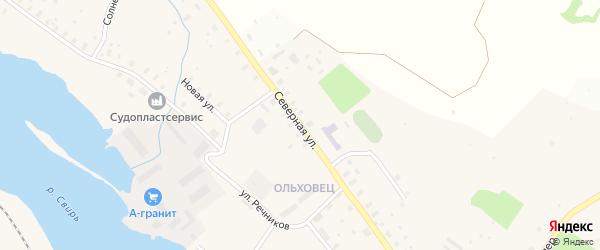 Северная улица на карте Подпорожья с номерами домов