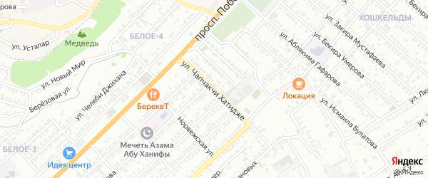 Улица Хатидже Чапчакчи на карте Симферополя с номерами домов