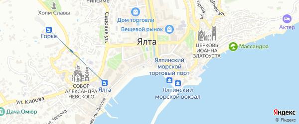 Улица Мустафы Селимова на карте Ялты с номерами домов