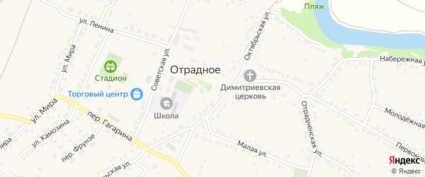 Лубянский переулок на карте Отрадного села с номерами домов