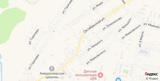 Октябрьская улица в Кувшиново с номерами домов на карте. Спутник и схема онлайн