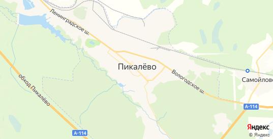 Карта Пикалево с улицами и домами подробная. Показать со спутника номера домов онлайн