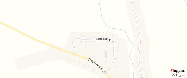 Школьная улица на карте деревни Стайки Калужской области с номерами домов