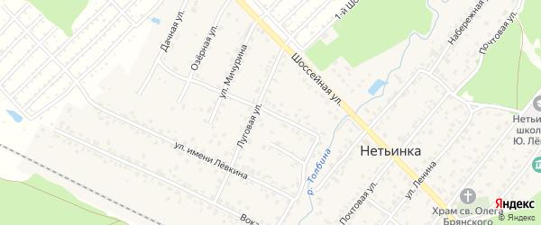 Улица 23 Партсъезда на карте поселка Нетьинки с номерами домов