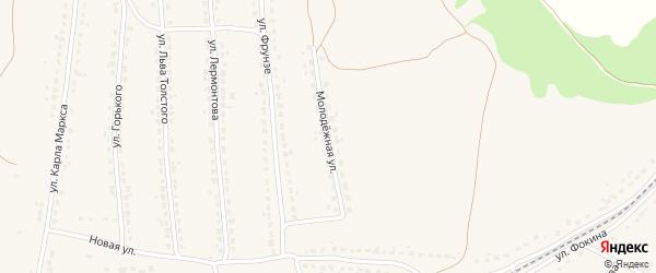 Молодежная улица на карте поселка Ивота с номерами домов