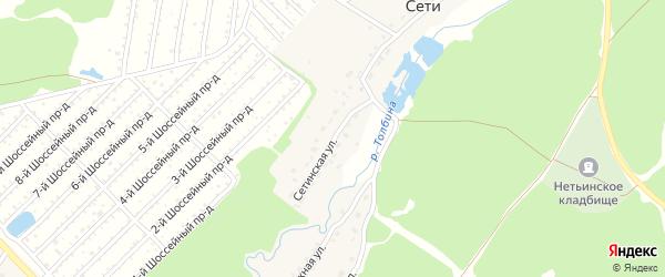 Сетинская улица на карте поселка Сети Брянской области с номерами домов