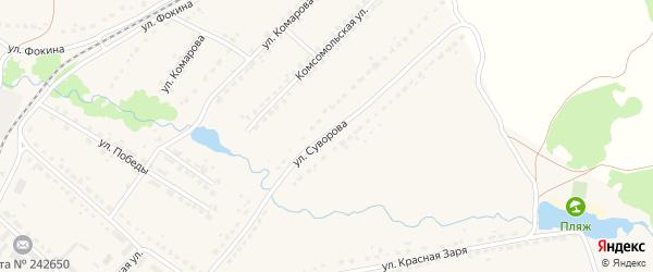 Улица Суворова на карте поселка Ивота с номерами домов