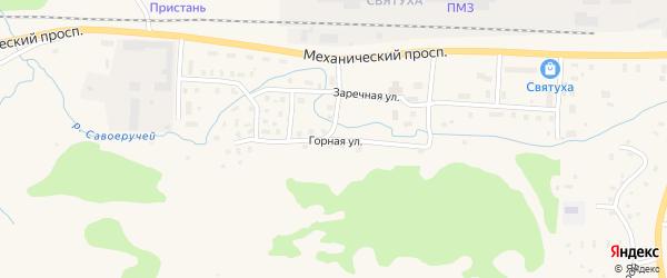 Горная улица на карте Подпорожья с номерами домов