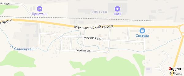 Заречная улица на карте Подпорожья с номерами домов