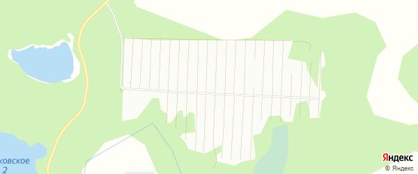 Карта садового некоммерческого товарищества Металлурга-2 города Бокситогорска в Ленинградской области с улицами и номерами домов