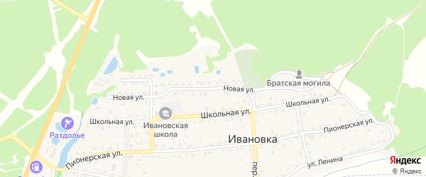 Новая улица на карте поселка Ивановки с номерами домов