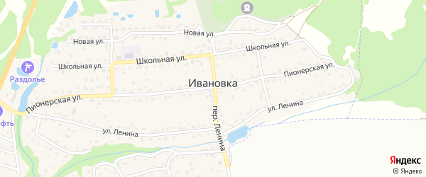 6-й Дачный проезд на карте поселка Ивановки с номерами домов