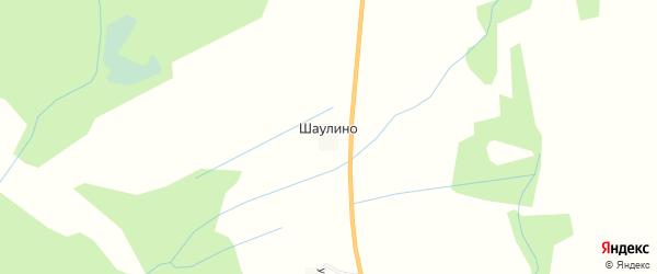 Карта деревни Шаулино в Смоленской области с улицами и номерами домов