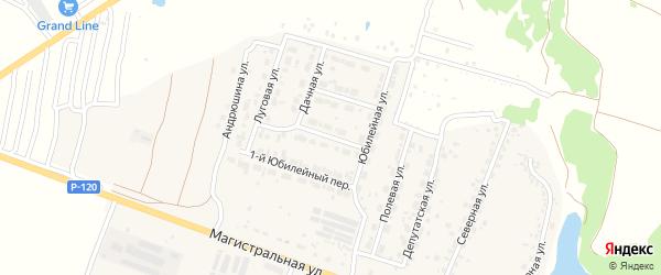2-й Юбилейный переулок на карте Мичуринского поселка Брянской области с номерами домов
