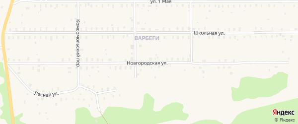 Новгородская улица на карте Подпорожья с номерами домов