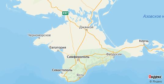 Карта Красногвардейского района республики Крым с городами и населенными пунктами