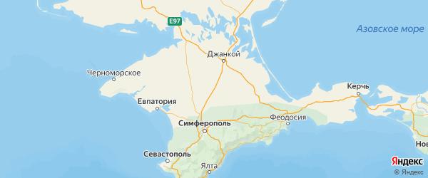 Карта Красногвардейского района Республики Крыма с городами и населенными пунктами