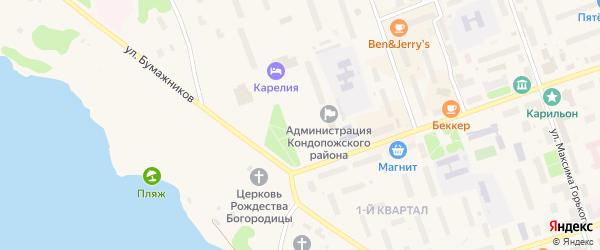 Площадь Ленина на карте Кондопоги с номерами домов