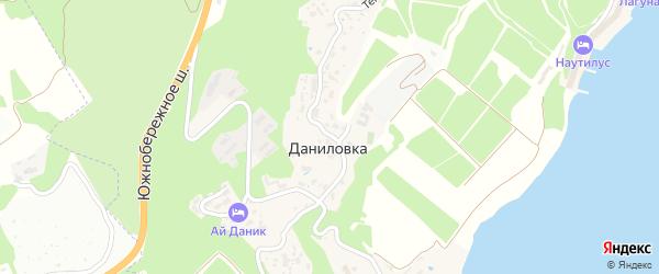 Тенистая улица на карте поселка Даниловки с номерами домов