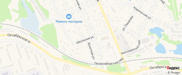 Школьная улица на карте Кондопоги с номерами домов